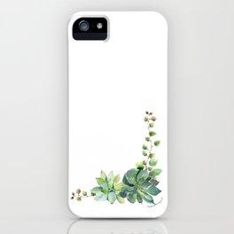 Succulent Cluster iPhone Case