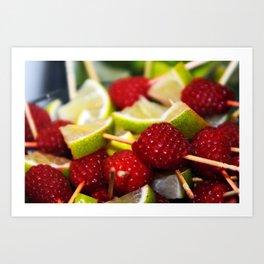 Rasberry Lime Art Print