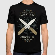 That which does not kill us makes us stronger Mens Fitted Tee Black X-LARGE