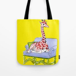 animals in chairs #10 Giraffe Tote Bag