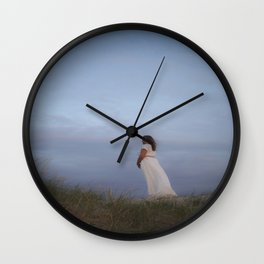 Sunset in the dunes II Wall Clock