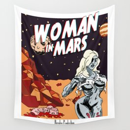 WOMAN IN MARS Wall Tapestry