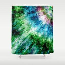 Abstract Grunge Tie Dye Shower Curtain