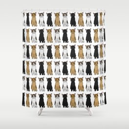 Cute Cats Illustration Shower Curtain