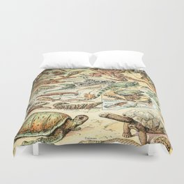 Reptiles II by Adolphe Millot // XL 19th Century Snakes Lizards Alligators Science Textbook Artwork Duvet Cover