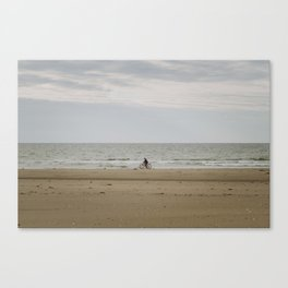 Biking Along the Shoreline Canvas Print