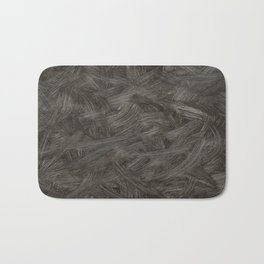 Black And White Brushstrokes Abstract Pattern Modern Art Bath Mat