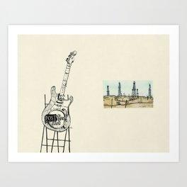 Post Rock Cafe Art Print
