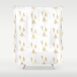 Au, Christmas Tree! Shower Curtain