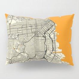 San Francisco Map Moon Pillow Sham