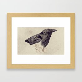 Life Without You Framed Art Print