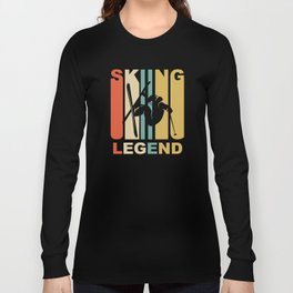 Vintage 1970's Style Skiing Legend Graphic Long Sleeve T-shirt