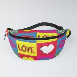 Pop art love Fanny Pack