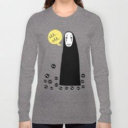 Spirited Away No Face Ahh..Ahh... Long Sleeve T-shirt