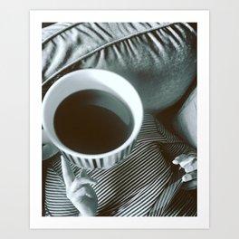 Coffee thinks Art Print