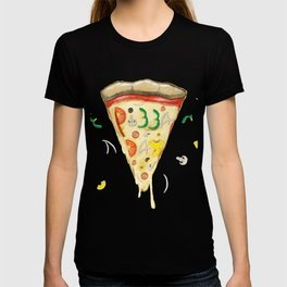 Pizza Day Slice with All the Toppings T-shirt