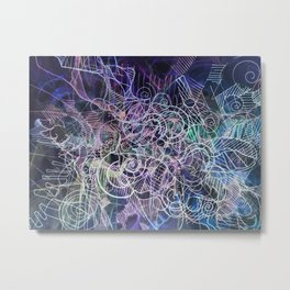 """""""Churning connectors; Flowing Zephyrs"""" Inverse Metal Print"""