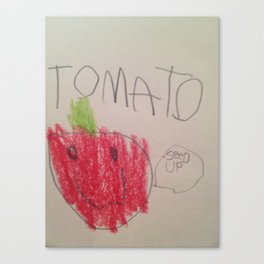 Tomato Says Canvas Print