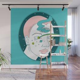 Space Girl Wall Mural