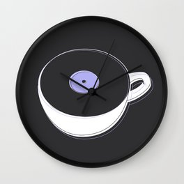 Vinyl Coffee Wall Clock