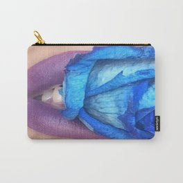 Lip and Blue Rose  Carry-All Pouch