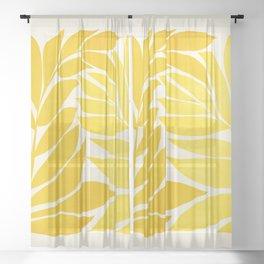 Mid Mod Vines - Yellow Sheer Curtain