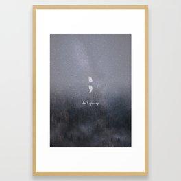 starlight glitter forest semicolon // don't give up Framed Art Print