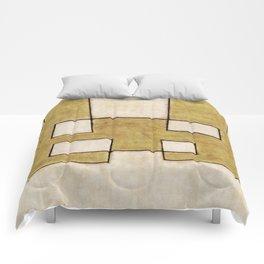 Protoglifo 06 'Mustard traverse cream' Comforters