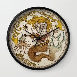 Monster's Maritime Lullaby Wall Clock