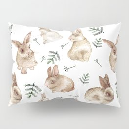 Bunnies and Leaves Pillow Sham