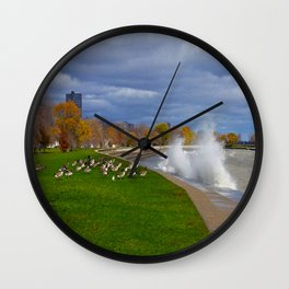 Time to Fly South? (Birds of Chicago Collection) Wall Clock