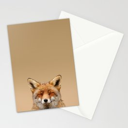 Zen Fox (Red Fox smiling) Stationery Cards