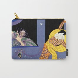 "Art Deco Design ""Harlequin"" by Erté Carry-All Pouch"