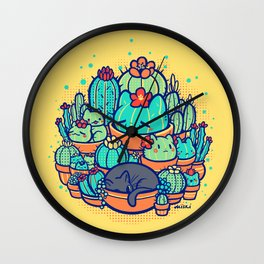 Catcus Patch Wall Clock
