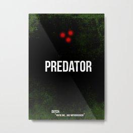 Predator - minimal movie poster Metal Print