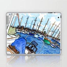 Boats at the Marina Laptop & iPad Skin