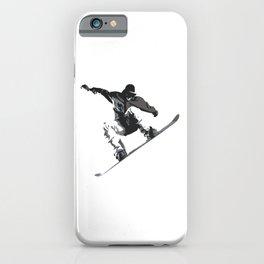 Snowboard Jumping Cartoon iPhone Case