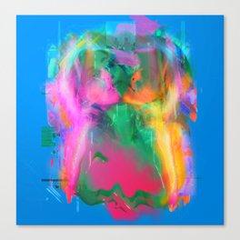 Glitch Mermaid Canvas Print