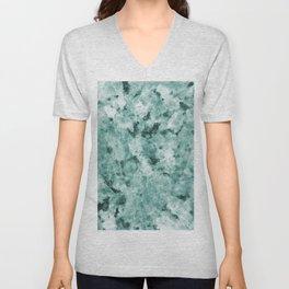 Mint Green Crystal Marble Unisex V-Neck
