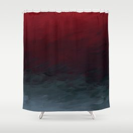 Inverted Fade Crimson Shower Curtain