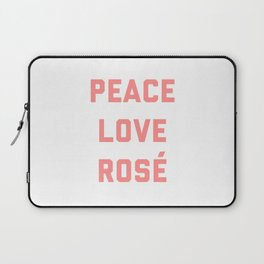 Peace Love Rosé Quote Laptop Sleeve