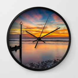 Sunset Reflections Wall Clock