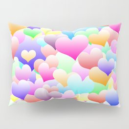 Bubble Hearts Light Pillow Sham