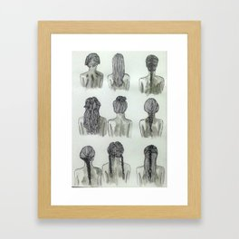 hair(lines) Framed Art Print
