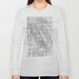 Weird shaky and foggy white and light grey texture on strange innocent wall Long Sleeve T-shirt