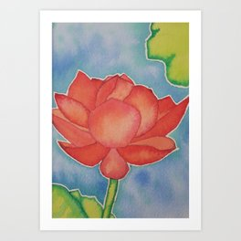 Lotus Flower in Bloom Art Print
