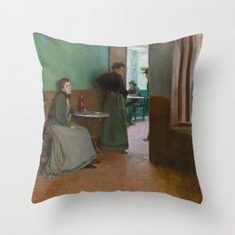 Santiago Rusiñol - Interior of a Cafe Throw Pillow