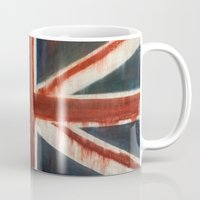 union jack Mugs featuring Union Jack by breezy baldwin