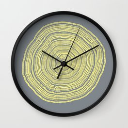 Yellow Tree Ring Wall Clock