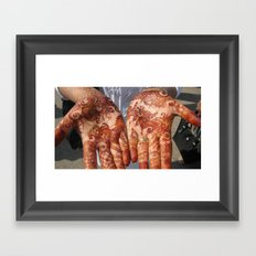INDIA - Hands Framed Art Print